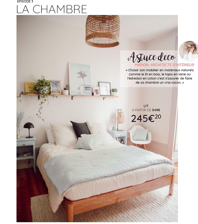 Inspi étagère au dessus du lit avec tableaux, plantes  Décoration