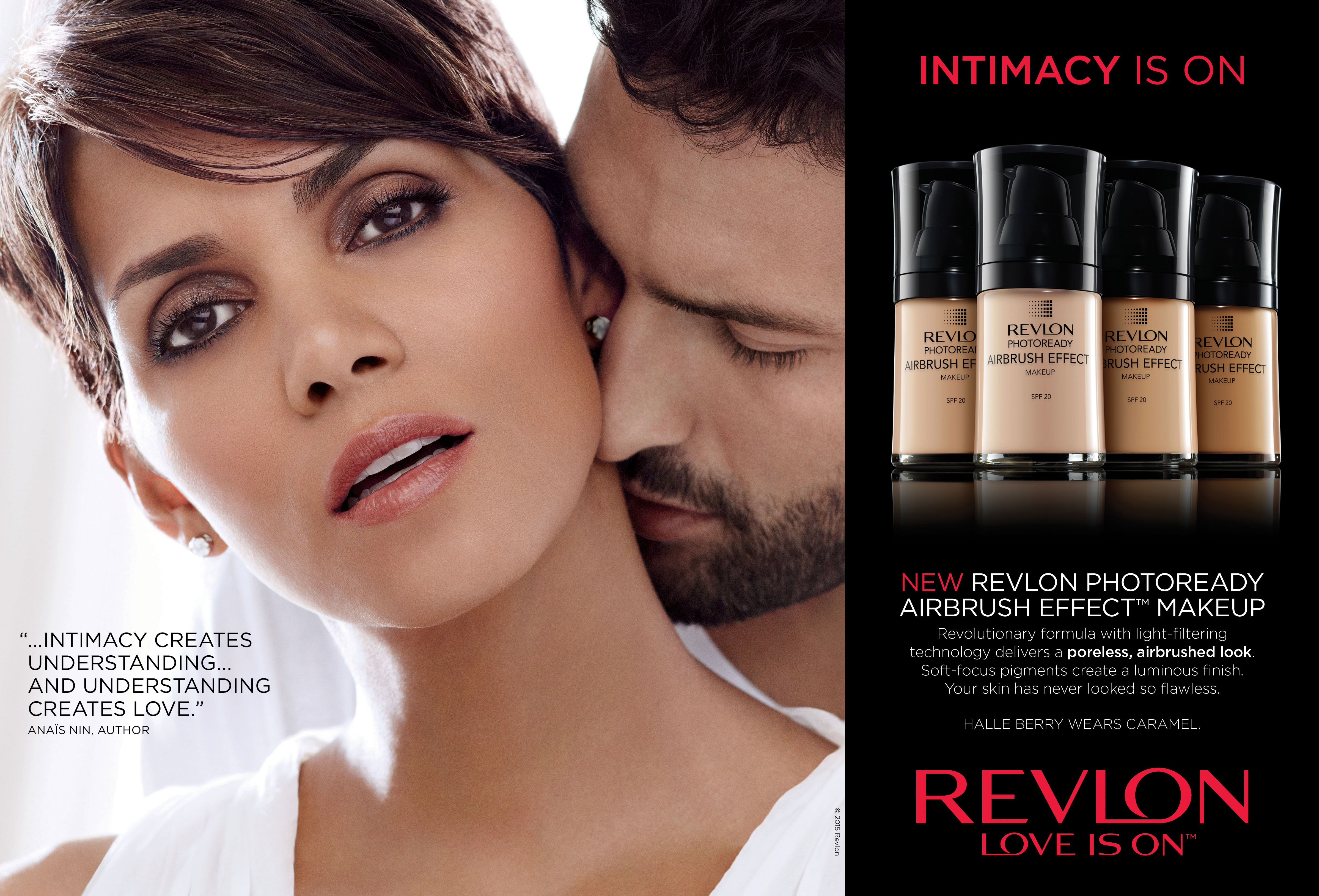Halle Berry Wears Revlon Makeup In Caramel Color For Mac Photoready Airbrush Effect Nude