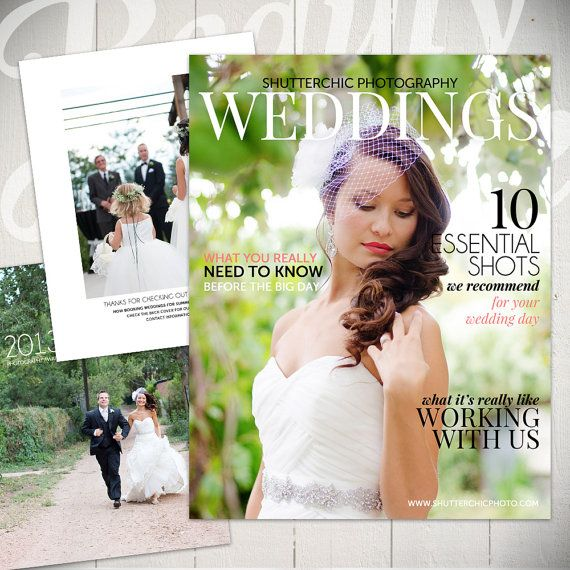 Photography Magazine Template Wedding Guide Digital Or Etsy Photography Magazine Template Free Wedding Magazines Wedding Magazine