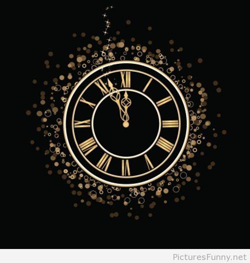 Midnight Wallpaper Clock Happy New Year 2015