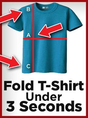 How To Fold a T-Shirt Fast - Best Quick Ways Of Folding T-Shirts #foldingclothes
