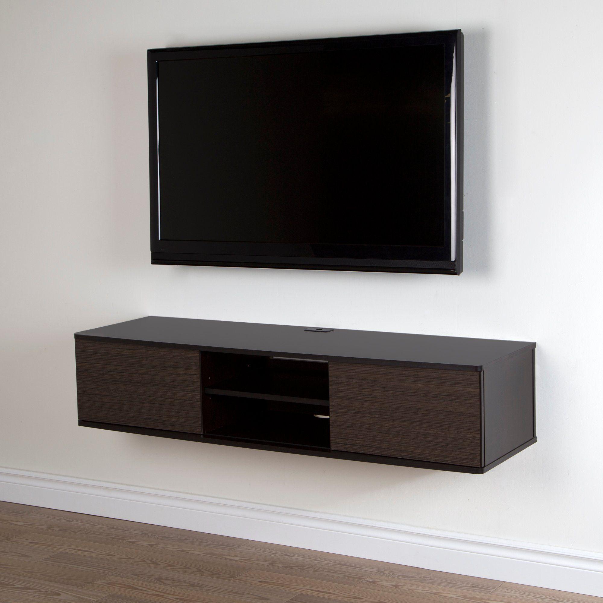 Chocolate Zebrano Media Console 56 Inch Agora Wall Mounted Tv Wall Tv Stand Wall Mounted Media Console
