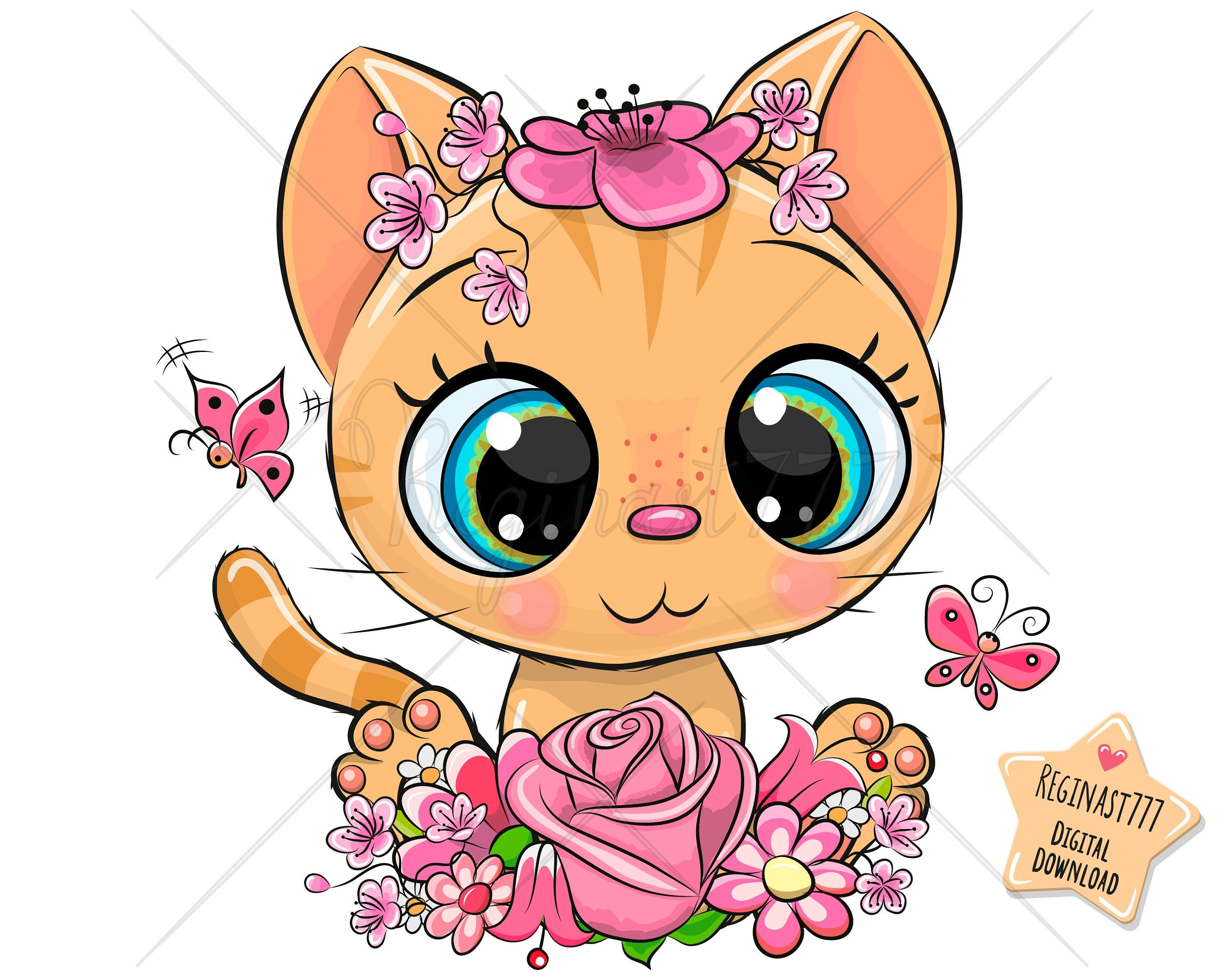Excited To Share The Latest Addition To My Etsy Shop Cute Kitty Png Digital Download Clipart Kitten Cat Orange Cute Cartoon Orange Kittens Baby Clip Art