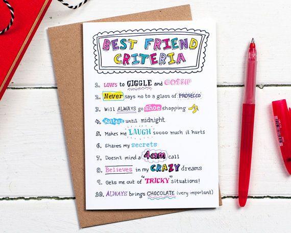 Best Friend Birthday Card Card For Friend Best Friend Card Friend Card Bff Card B Tarjetas De Cumpleaños Amiga Regalos Para Mejor Amigo Tarjeta Para Amiga