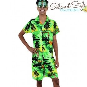 Crazy loud colourful stag party fancy dress Hawaiian shirts