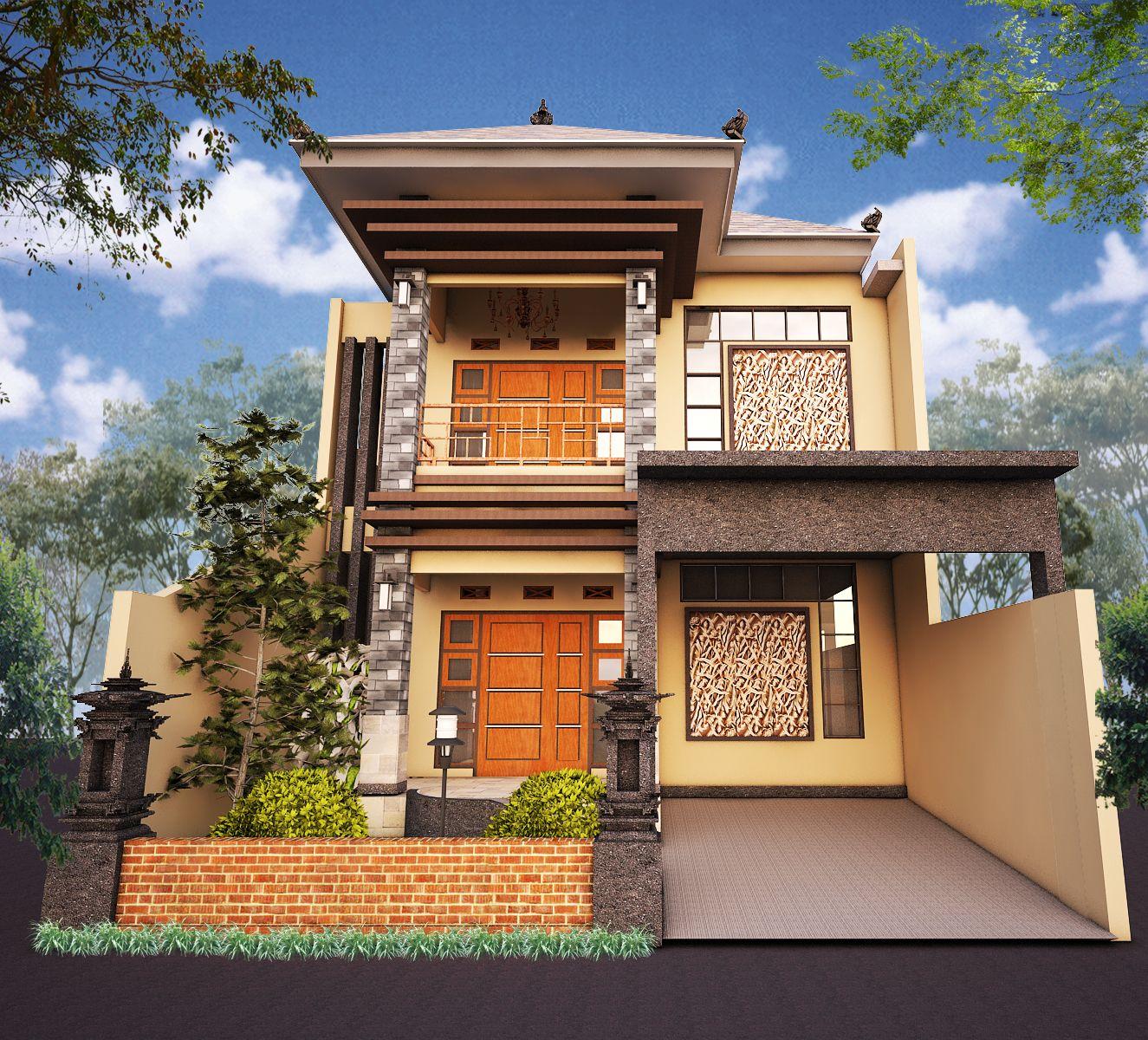 Rumah gaya Bali modern By; Id design   Rumah