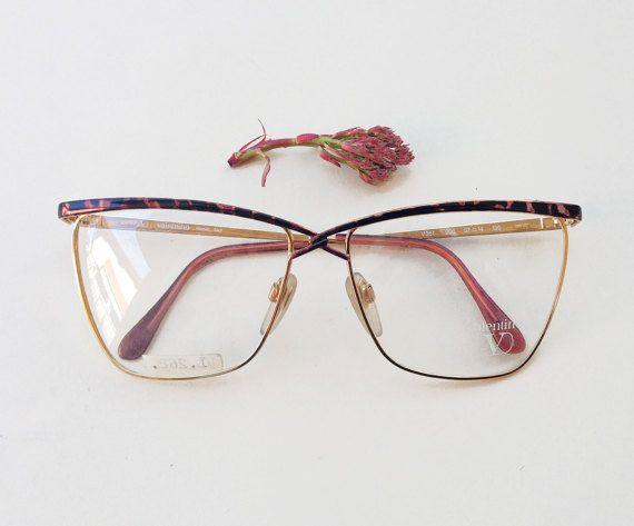 f7dd268872dd54 VALENTINO original Frames   80s NOS golden and tortoise metal eyeglasses    cat eye italian glasses   womens optical Garavani frame by Skomoroki