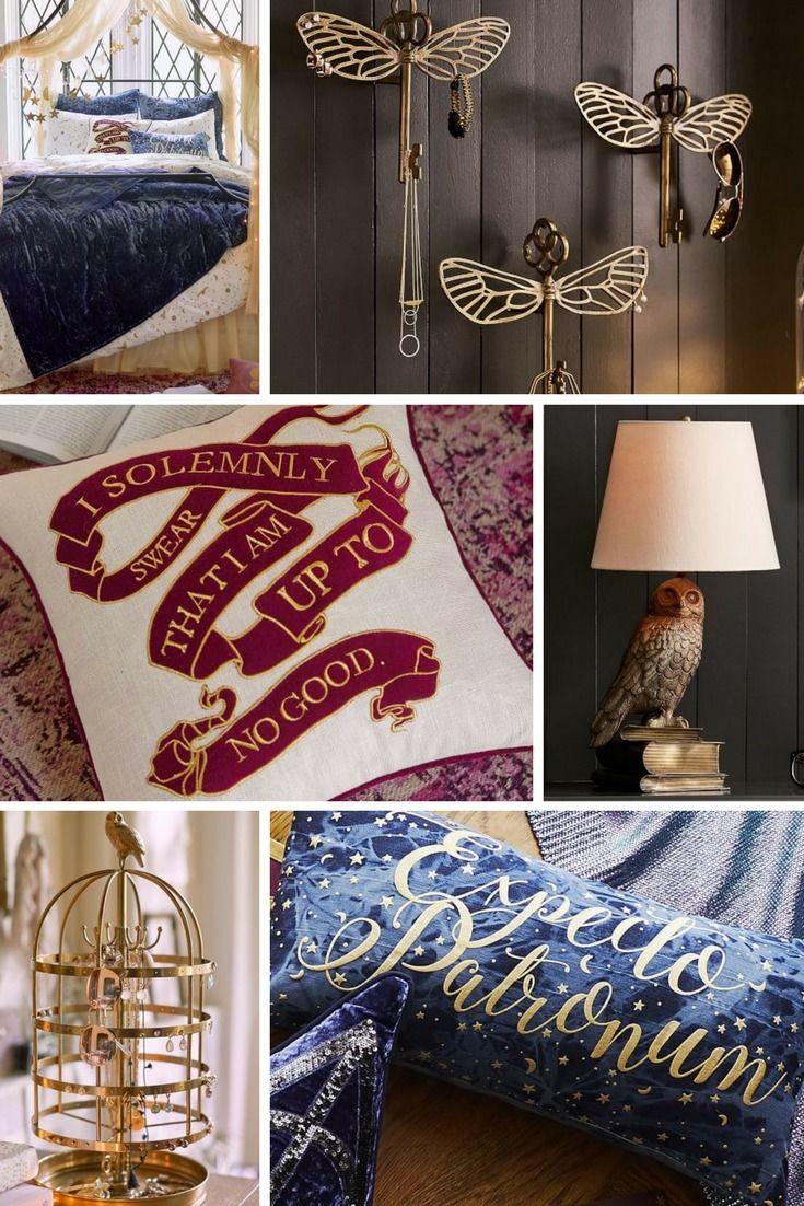 d coration harry potter pottery barns sort une collection pour d corer sa maison aux couleurs. Black Bedroom Furniture Sets. Home Design Ideas