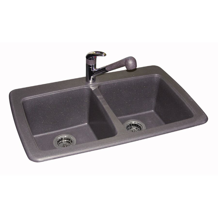 Lowe S Kitchen Sinks Granite Double Basin Drop In Or