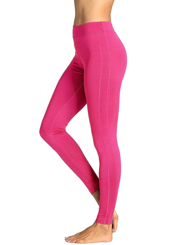 "Women's Running Sports Tights Workout Leggings Comfort Flex Pants - ""Magenta-27.5"""""" - CS12O1J242A -..."