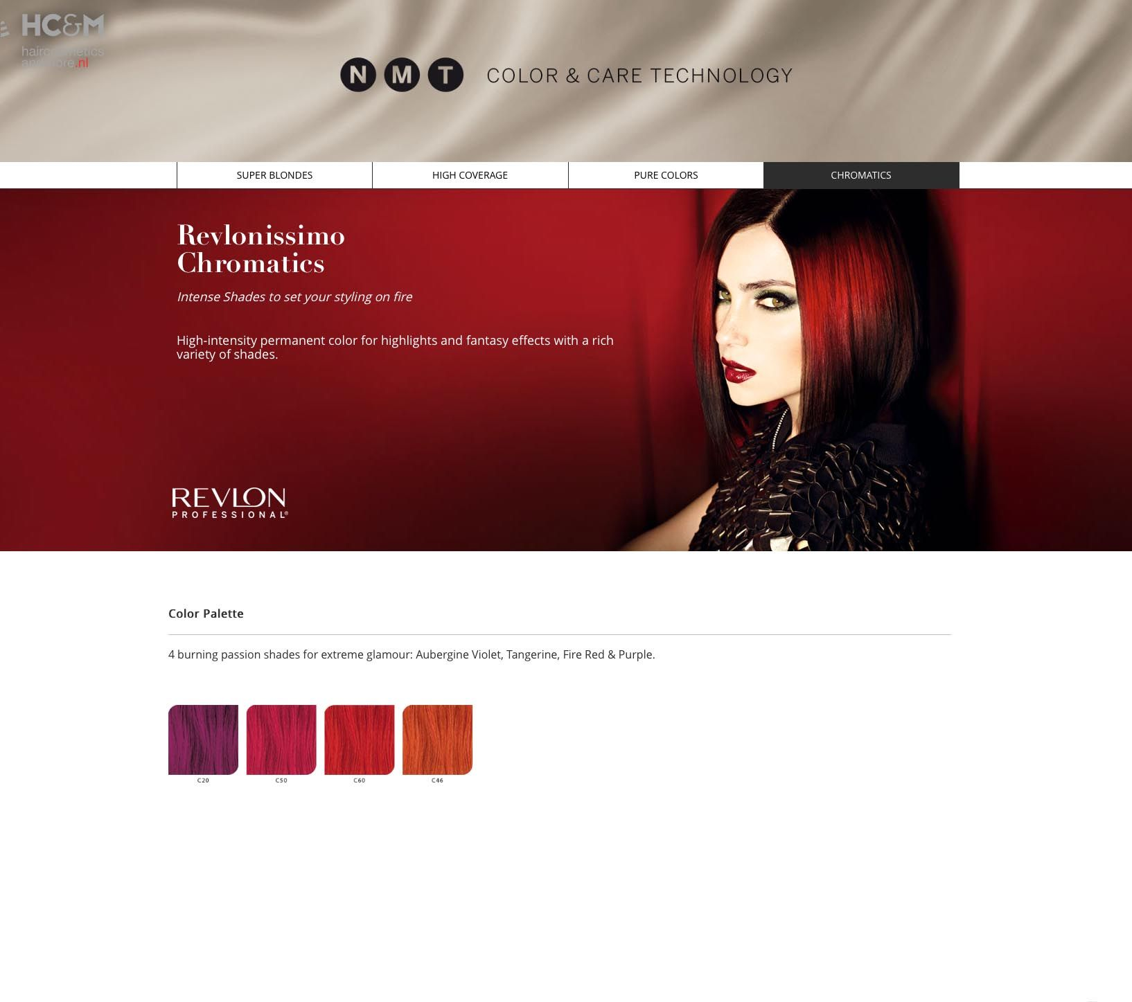 Revlon Professional Revlonissimo Nmt Color Palette Chromatics Revlon Professional Blonde High Color Care