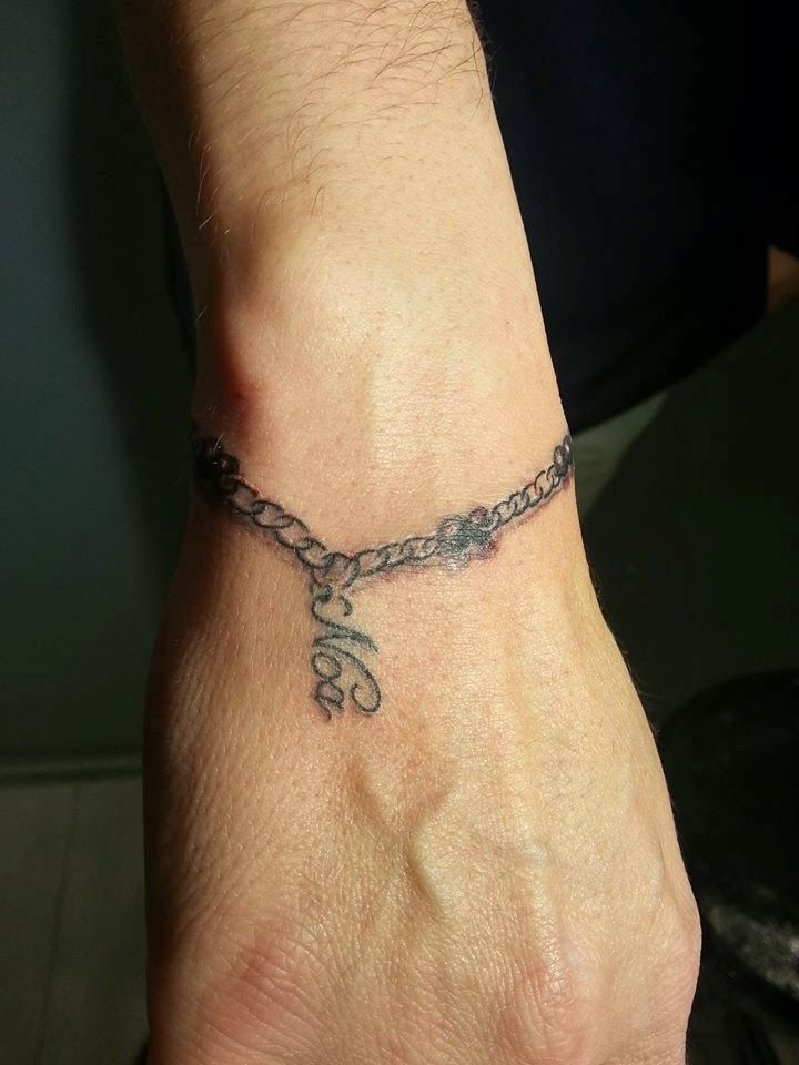 Inferno Tattoo Tattoo Pulsera Y Nombre No Me Olvides Tattoos