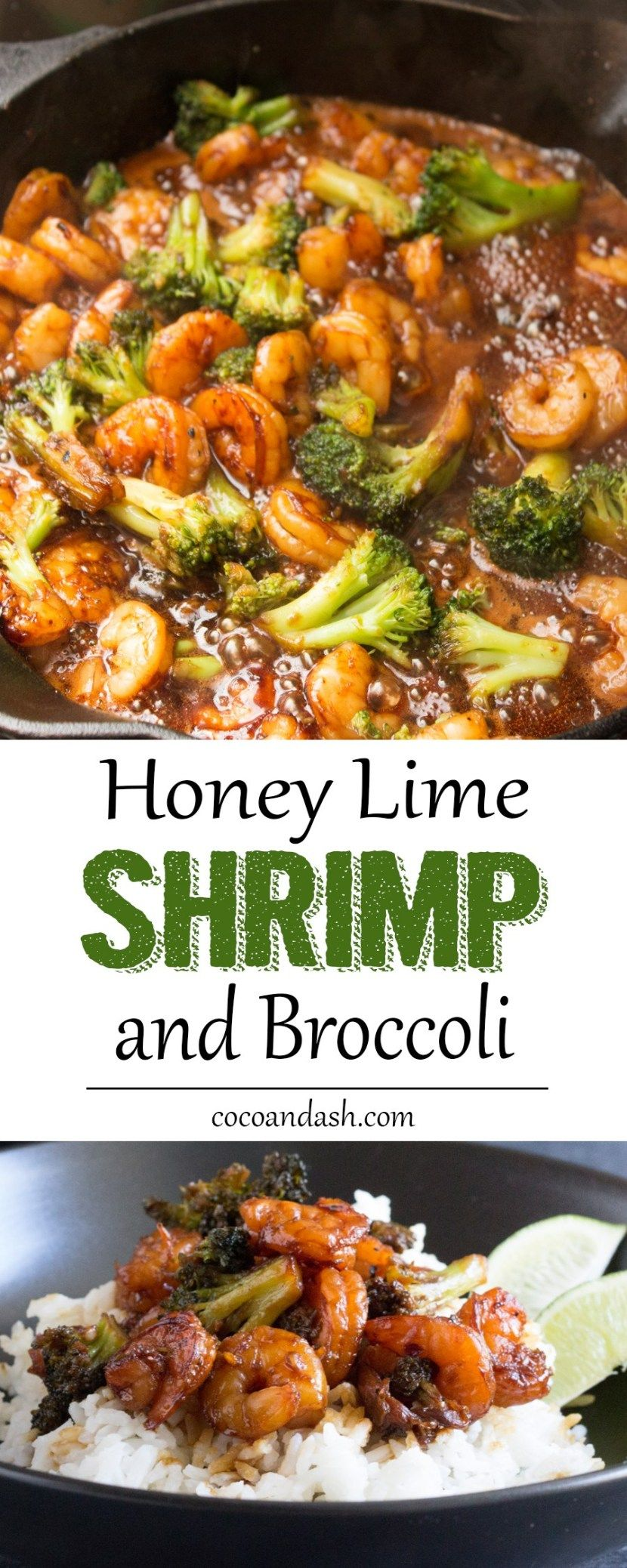 Honey Lime Shrimp and Broccoli - Coco and Ash