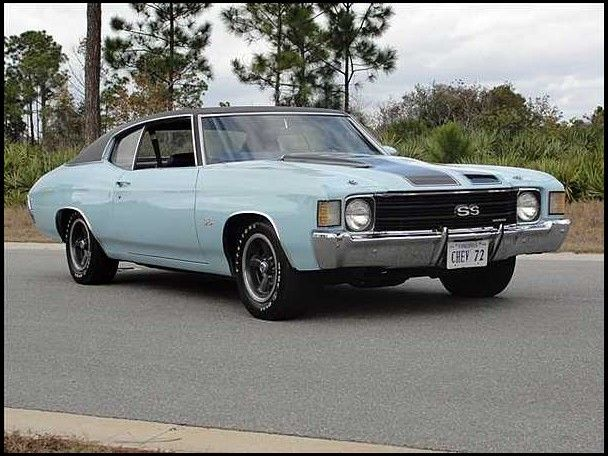 1972 Chevrolet Chevelle SS 350/165 HP, Automatic