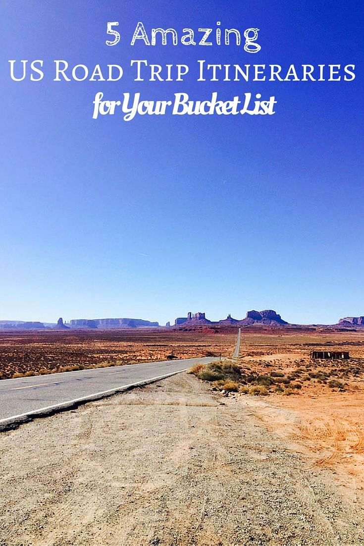 Worksheet. 5 Amazing US Road Trip Itineraries for Your Bucket List