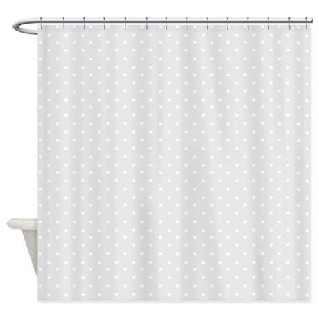 Small gray polka dots Shower Curtain | Modern contemporary, Gray and ...
