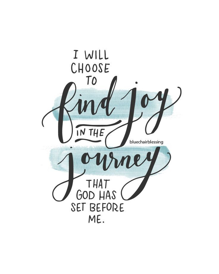 I Will Choose To Find Joy In The Journey That God Has Set
