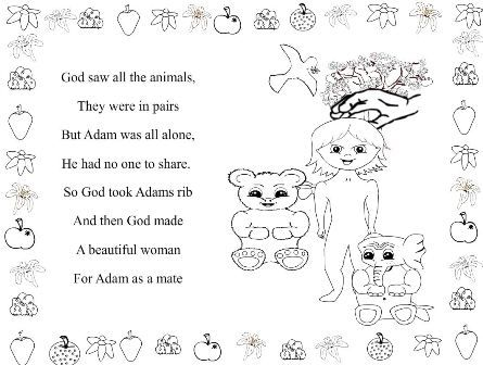 Free Adam And Eve Bible Story Coloring Book
