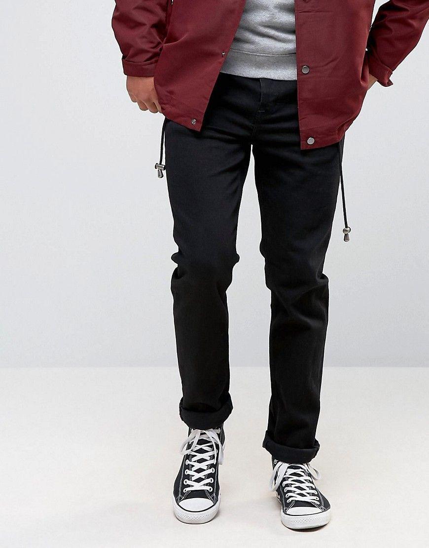 ASOS Stretch Slim Jeans In 12.5oz True Black - Black