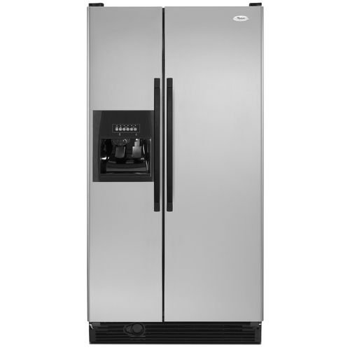 Whirlpool 25 1 Cu Ft Side By Side Refrigerator Color Stainless