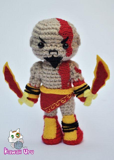 Amigurumi Geek Patterns : Kawaiiuru amigurumi kratos de god of war amigurumis