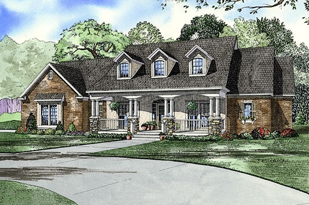 Southern Style House Plan 4 Beds