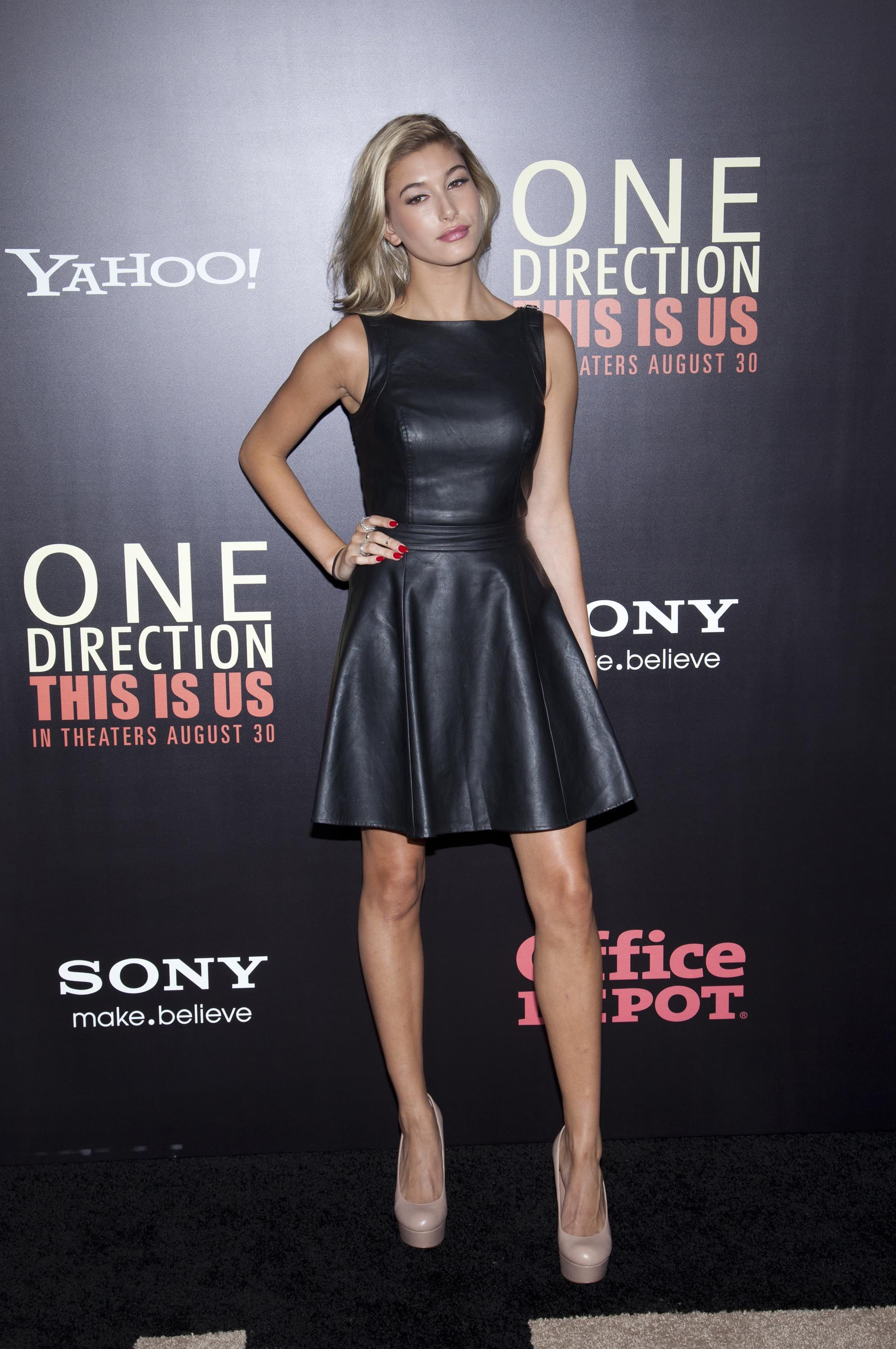 bd7002bf9f Hailey Baldwin attends the One Direction This Is Us world premiere ...