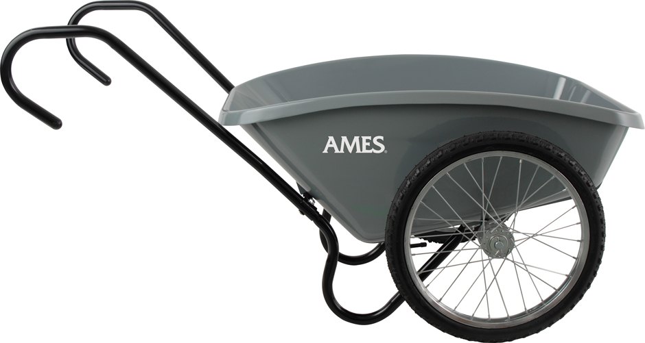 Ames Total Control 5 cuft Garden Cart Wheelbarrow