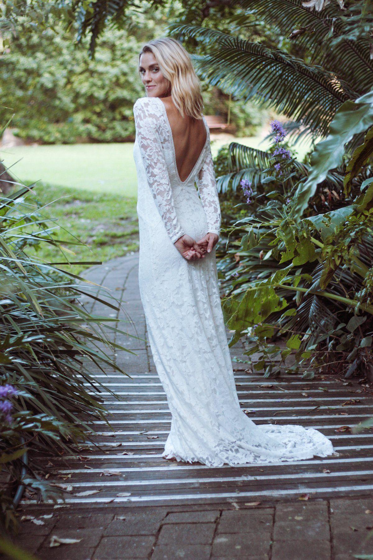 Alexa our gowns pinterest boho lace wedding dress long