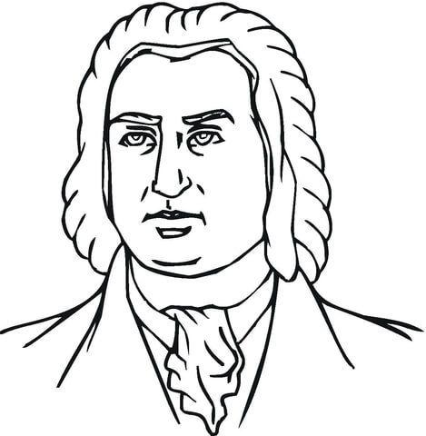 Johann Sebastian Bach Coloring Page Sebastian Bach Ausmalbilder