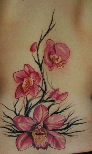 289a434953832 Orchids on black twigs tattoo | Nice tattoo | Tattoos, Orchid tattoo ...