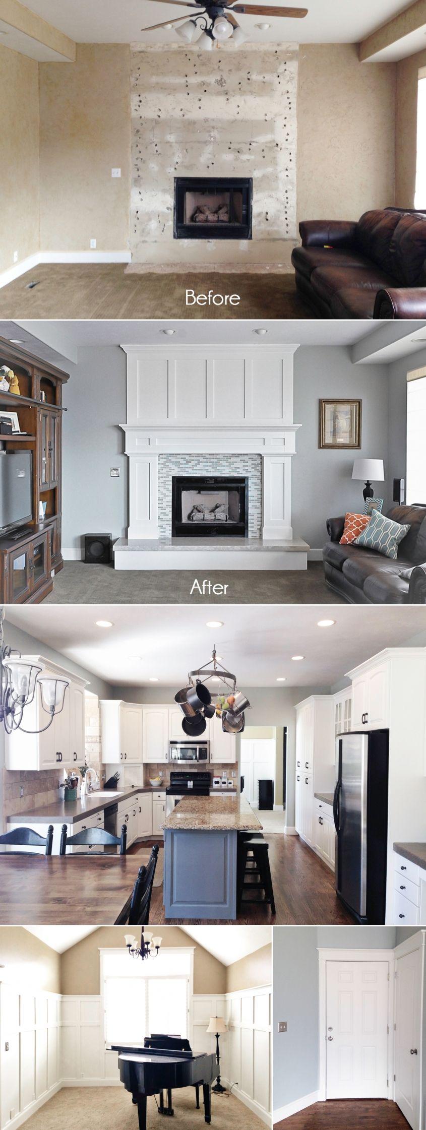 Love the fireplace Jen Bacher :: Home Renovation