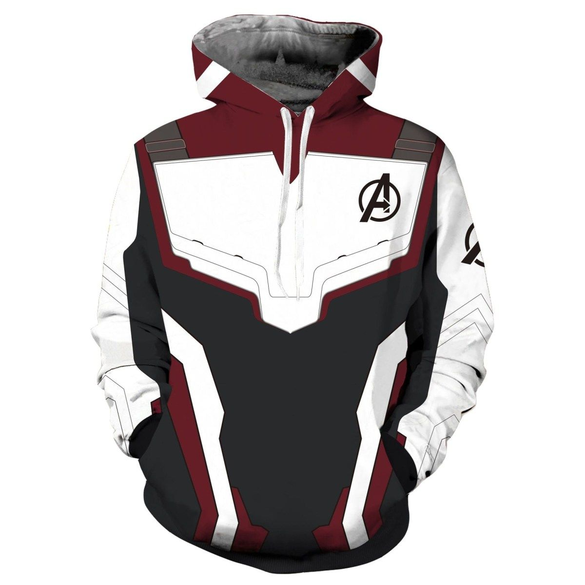 Mens Marvel Avengers Hoodie 3D Print Hooded Sweatshirt Pouch Pocket Pullover