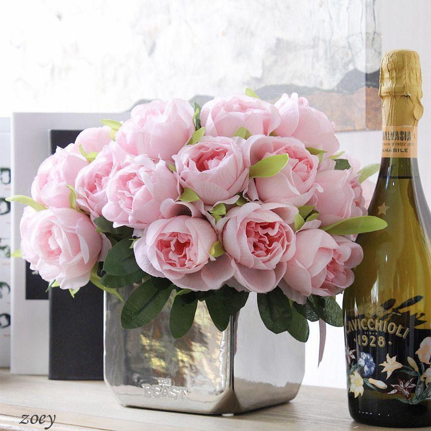 10pcs/bouquet fake western silk rose artificial Bridal rose flower ...