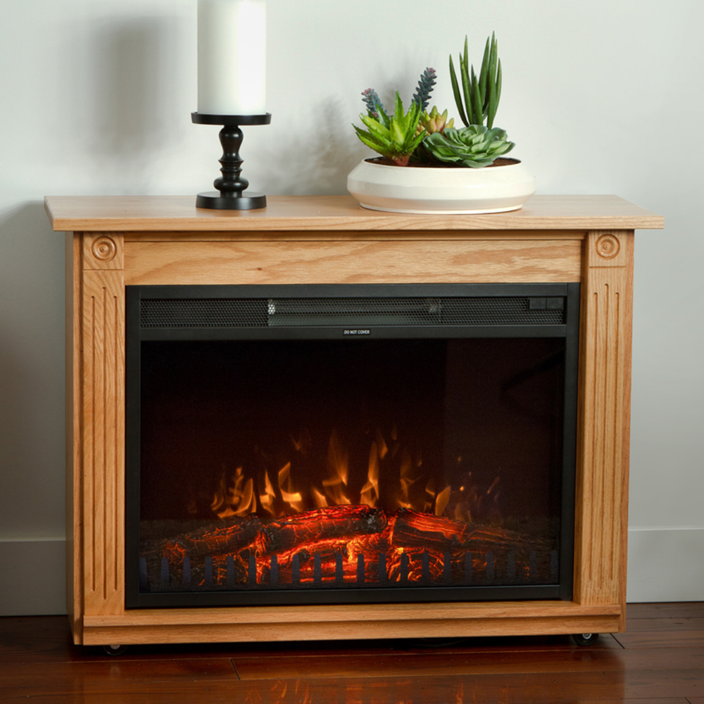 The Original Dutchman Amish Electric Fireplace Light Oak With
