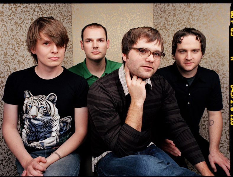 Death Cab for Cutie, back when Ben would sweat through multiple shirts. <3 sweet/sweat love