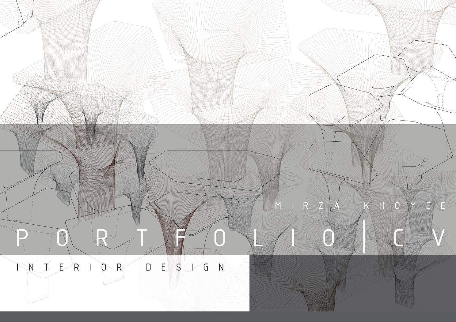 Interior design portfolio mirza khoyee portfolio design interior design portfolios design for Interior design portfolio cover