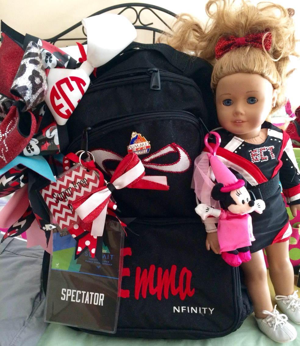 10fecefde06c Nfinity back pack and American Girl doll with custom uniform. Go ECT ...