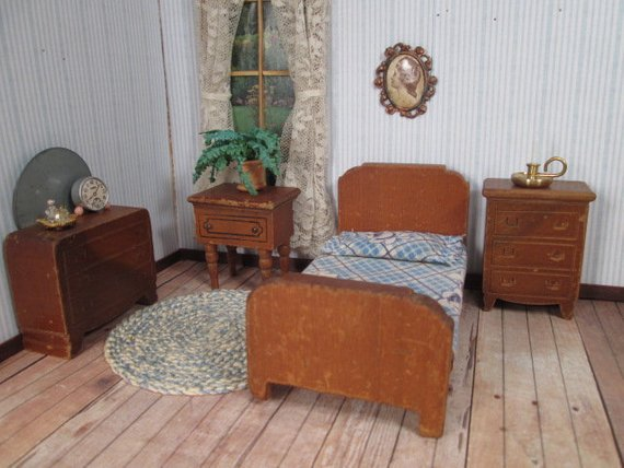 Dollhouse Furniture - Kage Bedroom Set - 3/4\