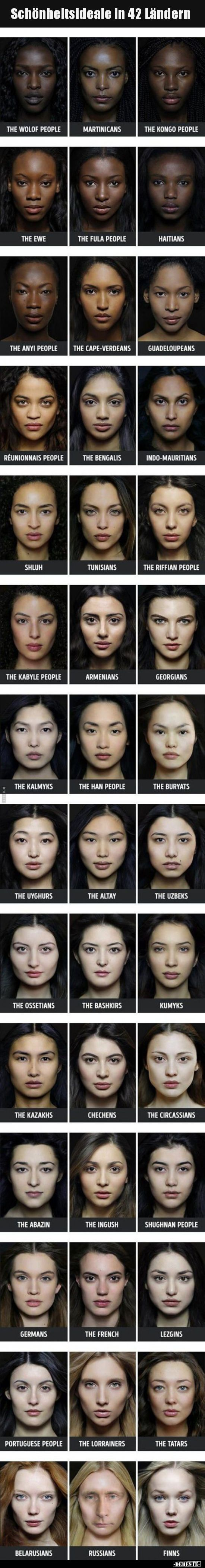 Schönheitsideale in 3 Ländern..  Schönheitsideal, Schönheit, Gesicht