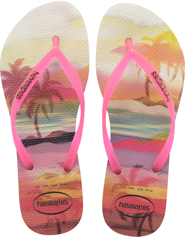 3863008515f5 Thong style - Cushioned footbed with textured rice pattern and rubber flip  flop sole - Made in Brazil