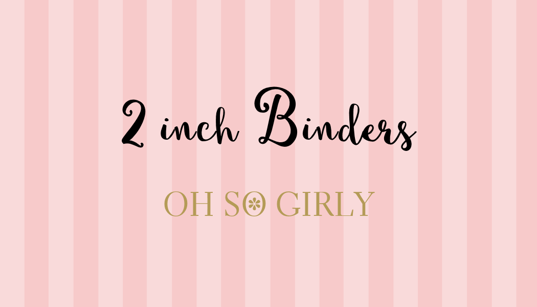 personalized 2 inch binders for her oh so girly boutique i could