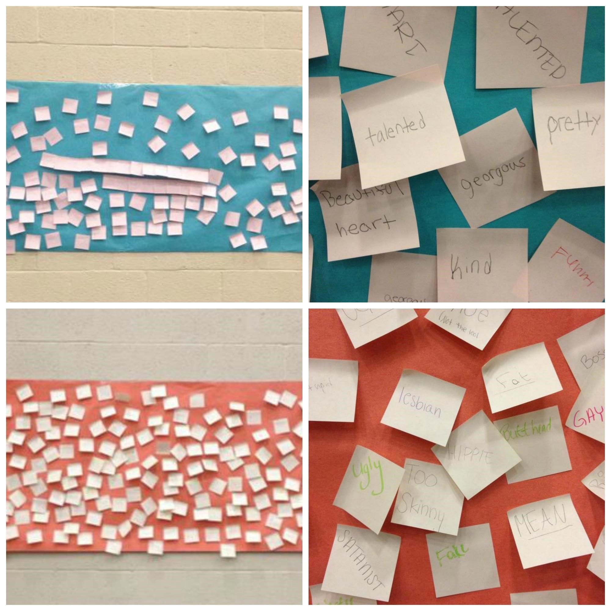 Reflection Exercise Positive Negative Post Its