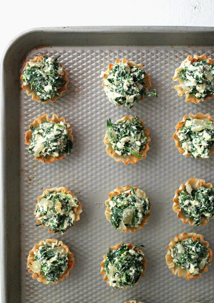 Easy Greek Spinach Pie Bites. The perfect appetizer ready