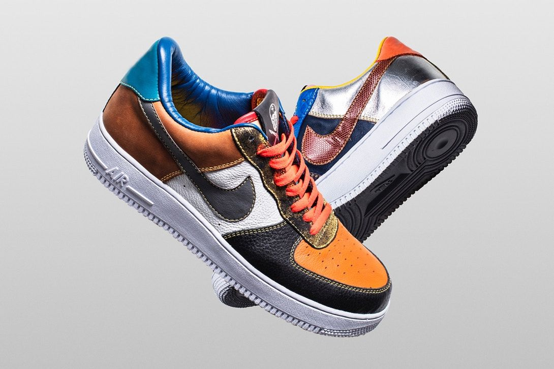 cheaper 1c518 6ee44 THE SHOE SURGEON X NIKE AIR FORCE 1 LOW WHAT THE SCRAP 596728 105   dedication