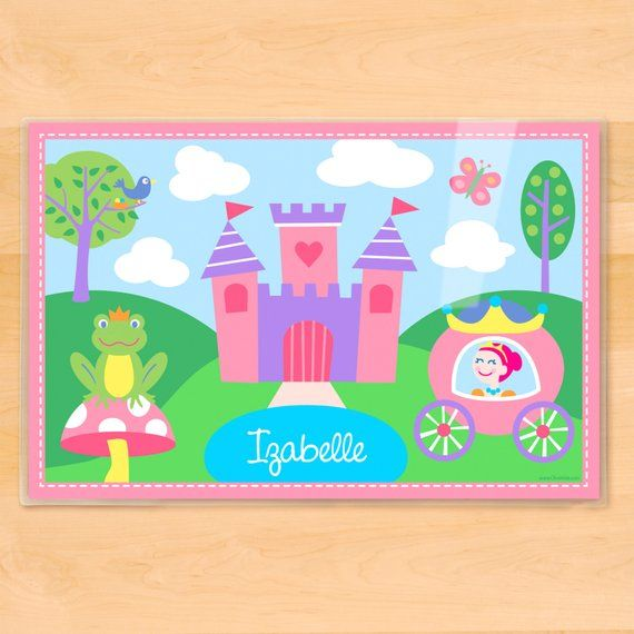 kids personalized princess placemat