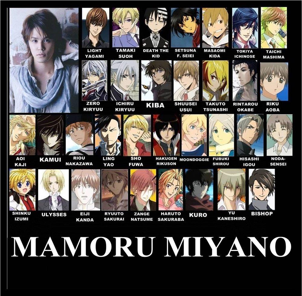 Mamoru miyano voice actor anime funny anime