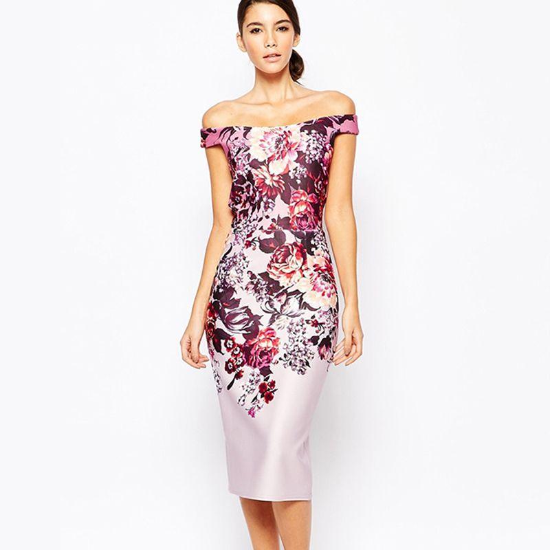 Knee-Length 2016 Summer Womens Dresses Vintage Tight Dress ...