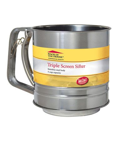 Look at this #zulilyfind! 5-Cup Triple Screen Sifter #zulilyfinds