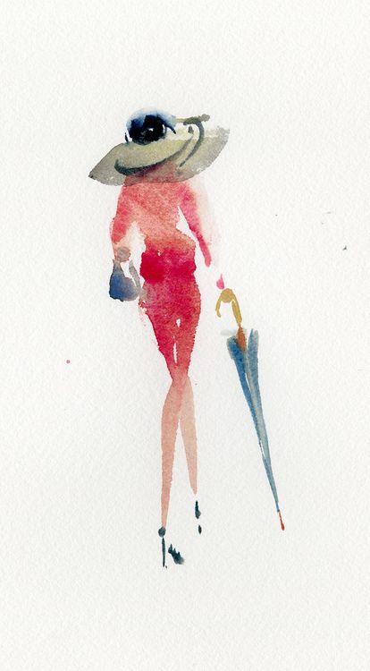 11 02 Fashion Rose 1 Mode D Aquarelle Mode Esquisse Et Dessin